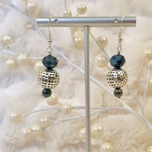 Frontrow.Style Jewelry - Sterling Silver Earrings Crystal Malachite